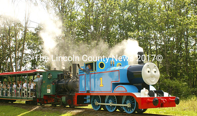 August 13, 14, 15 are the final days to catch Thomas the Train at the Boothbay Railway Village. (Photo by Steve Edwards)