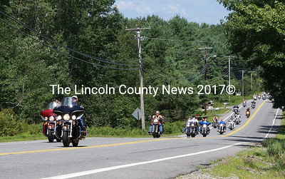 "Around 2000 motorcycles rolled into Boothbay Aug. 1 for the 30th Annual Stoney's Lobster Run. The run is an annual fundraiser for Maine Children's Cancer Program which was started by John ""Stoney"" Dionne, who passed away last year. (Photo by Steve Edwards)"