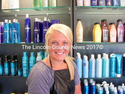 Reagan Sturks, of Rockland, joined the staff of Mia's Shear Perfection Aug. 2. A graduate of Empire Beauty School, Sturks will be doing everything from haircuts to pedicures. (A. Brodsky photo)