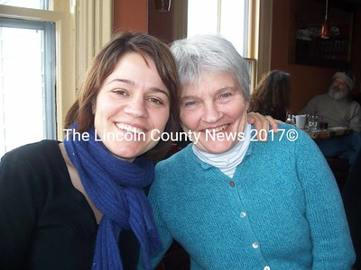 Anna Belknap and her mother, Louise Belknap. Anna is in Damariscotta for a holiday break from the CSI:NY television series where she plays Det. Lindsay Monroe Messer. (Kim Fletcher photo)