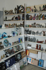 Hoffman Collectibles on Rt. 1 in Waldoboro sells an eclectic mix, including figurines, knives and glass pipes. (Samuel J. Baldwin photo)