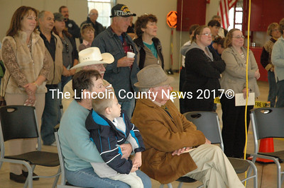 Dozens of residents attended a dedication ceremony and open house at the new Whitefield fire station on Oct. 15. (Samuel J. Baldwin photo)