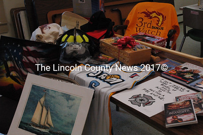 As of Nov. 14, the Waldoboro Fire Dept. had received 161 donated items for their auction on Dec. 2 at Medomak Middle School. (Samuel J. Baldwin photo)