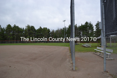 The new ice rink will be set up on the softball diamond at the Wiscasset Community Playground Facility. (Alec Brodsky photo)