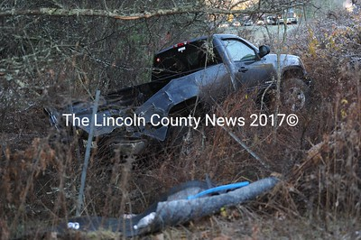 Black ice is blamed for a series of car accidents in Newcastle, Nov. 18, resulting in one injury. Norm St. Clair was transported to the hospital. (Paula Roberts photo)