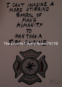 The Waldoboro Fire DepT.'s auction on Dec. 2 at MMS will include a signed and numbered original print by author Kurt Vonnegut. (Samuel J. Baldwin photo)