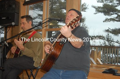 [] (left) and Paul Mellyn provided live music for the nearly 400 guests at a March 5 fundraiser for the Zander Lee Family Fund. (J.W. Oliver photo)