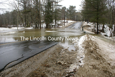 River Road in Edgecomb was closed due to flooding March 7. (photo Steve Edwards)