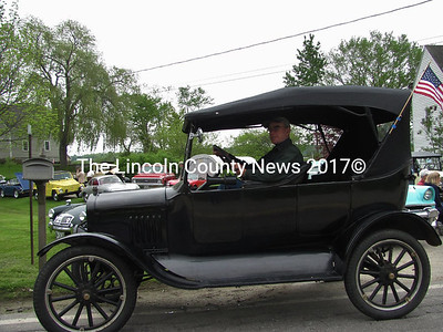 John Harris and The Model T which has been in his family for 45 years participated in the Car Show at the Fish Ladder Restoration Festival.