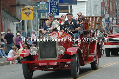 Not as spry as she used to be, but Newcastle's antique pumper made an appearance the Twin Villages Memorial Day parade.