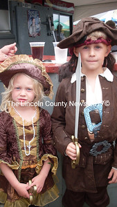 Dakota and Chase Gregory of Newcastle celebrate the Fourth Annual Pirate Rendezvous in style.