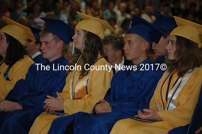 The MVHS class of 2011 watches as their fellow graduates receive their diplomas June 8. (Samuel J. Baldwin photo)