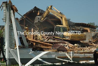 Demolition of the old Jefferson Village School building began in earnest on July 11. (Samuel J. Baldwin photo)
