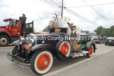 This Moxie car made its way to Fernald's in Damariscotta from the Waldoboro Moxie Fest last week. (J.W. Oliver photo)