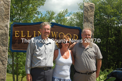 From left, Rob Howard, Terri Wiseman and Gary Howard are the children of the late Jean Thistle, who sold the Ellingwood property to Bristol last year, and the grandchildren of Gary and Dot Ellingwood. (J.W. Oliver photo)