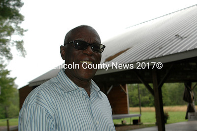 Pastor Apollon Noël atteneded a celebration in his honor at the Broken Acres Pavilion in Jefferson July 8. (Elleanor Cade Busby photo)