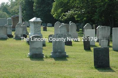 Despite recent financial struggles, a July 7 meeting raised enough money to mow Sweetland Cemetery on Rt. 220 in Waldoboro. (Samuel J. Baldwin photo)