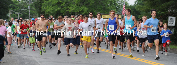 Runners are off at the start of the Strawberry Shortcake Shuffle races Saturday morning.