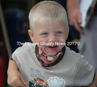 Three-year-old Adam St Cyr, 2011 Kids Pie Eating Champion