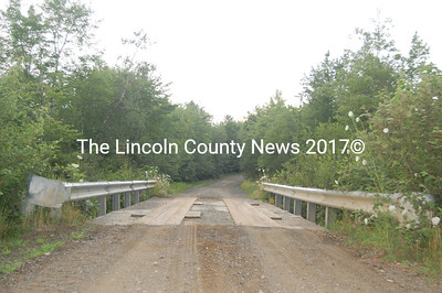 The Lincoln County Commissioners say Big Bog Bridge, in Hibbert's Gore, needs repairs. (J.W. Oliver photo)