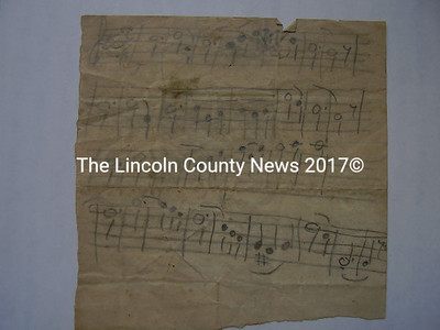 Found in an old fiddle case, this piece from Turner, Maine dates to around 1871. Lane believes the music is meant as an addition to a larger work.