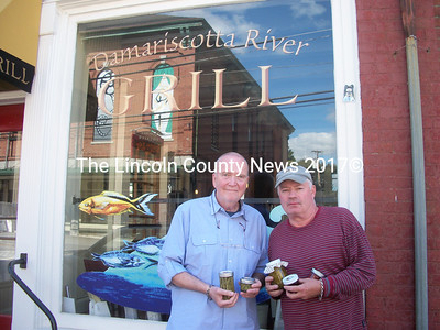 Jim Brown and Bobby Whear will host the Damariscotta River Grill's third annual pickle contest Sun., Sept. 25 at 3 p.m. (A. Brodsky photo)
