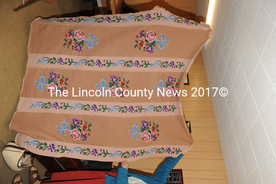 The Friday Guild of St. Andrew's Church, Glidden Street in Newcastle is offering a handmade quilt up for auction. The 62- by 72-inch quilt is crocheted, featuring an afghanstitch. (Paula Roberts photo)