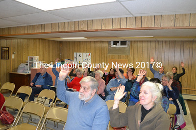 Edgecomb residents voted on over a dozen warrant articles at a special town meeting Jan. 9. (A. Brodsky photo)