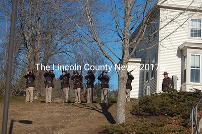 The Lincoln County Sheriff's Office fires a salute to former Sheriff Bill Carter. (J.W. Oliver photo)