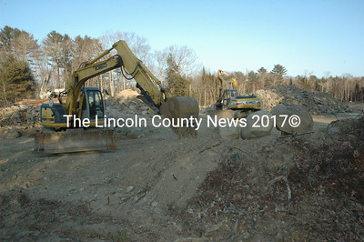 Earthwork, including some blasting, on East Pond Road in Nobleboro is in preparation for the construction of a large garage for a local limosine company, said Code Enforcement Office Stan Waltz. (Samuel J. Baldwin photo)