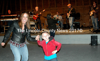 Sharon Buck (Lead singer of Sharon Buck and Dixon Road and morning anchor at B98.5) enjoyed dancing with son Anderson, 6, to the music of Cahoots.