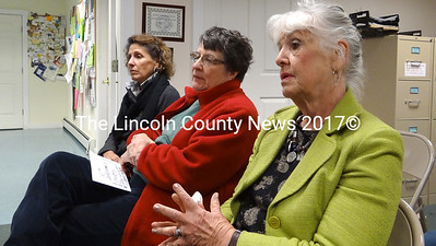 """Volunteers are already planning the Aug. 17, 2013 Jefferson Day celebration. From left, Sheryl Bickel, Joan Jackson and Ellie Day told selectmen, Nov. 19 they are looking forward to promoting the event that """"brings the town together,"""" according to Day. (Shlomit Auciello photo)"""