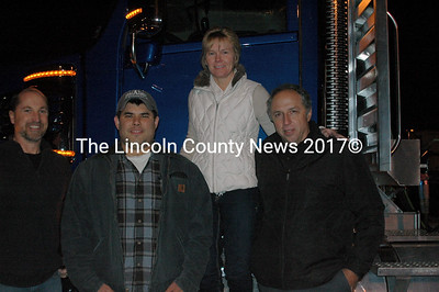 Rob Bisset, Tristan Smith, Amy Harkins, and Jeffrey Payson, President of Northeast Transport Company.