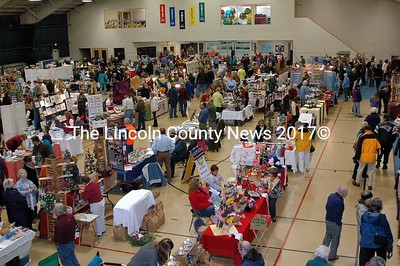 More than 1000 people took in the sights at the 32nd Annual Holiday Bazaar at the CLC YMCA in Damariscotta Nov. 10.