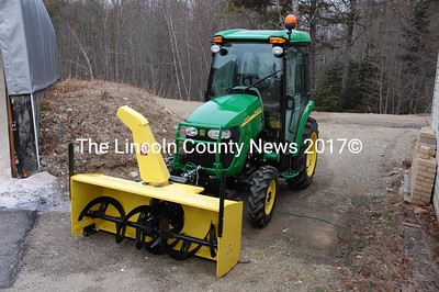 The Damariscotta Highway Dept. will put its new John Deere 3320 tractor into action this winter to clear downtown sidewalks of snow. (J.W. Oliver photo)