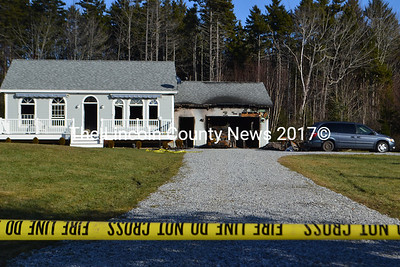 Fire investigators believe the fire at 16 Oceanside Lane in Bristol started in the garage, according to Maine Dept. of Public Safety spokesman Steve McCausland. (D. Lobkowicz photo)