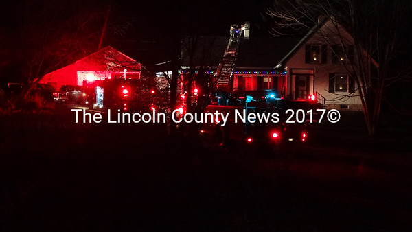 The Waldoboro Fire Dept. responded to a chimney fire on Bremen Road (Rt. 32) early Thursday eveing, Dec. 20. (Shlomit Auciello photo)