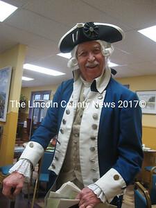 Dick Van Dine, in costume, as Captain Henry Vose. (Photo by Nancy Wilson)