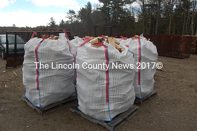Frick & Frack offers kiln-dried firewood by the bag. The bags hold one-third cord and are popular among retirees and other who can't or prefer not to stack wood. (J.W. Oliver photo)