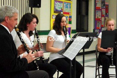 The clarinet quartet featured Claire Eugley, Nina Eriksen, Elaine Fitzpatrick and John Morneau.. (Dieter Weber photo)