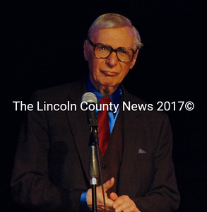 The Amazing Kreskin, onstage at the Boothbay Opera House, June 7. (E. Busby photo)