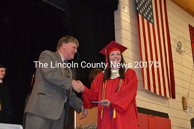 Abigail Foster is all smiles as she receives her diploma. (H. Perkins photo)