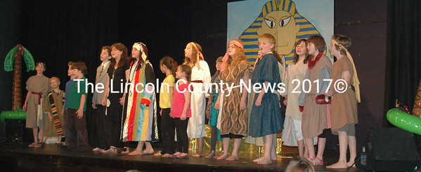 "The cast of ""Joseph, And The Amazing Color Dreamcoat"". (Photo by E. Busby)"