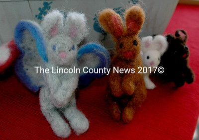 "Felted bunnies from Barber's Bunnies. ""Just in case you can't have a real bunny,"" said owner Anna Barber. (E. Busby photo)"