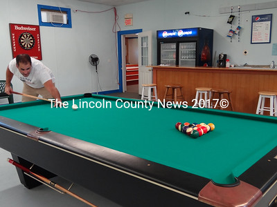 D & R Billiards co-owner Dan Simmons said the Waldoboro business is the only place in the Midcoast where players will find professional nine-foot tables. (Shlomit Auciello photo)
