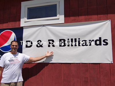 Dan Simmons, of Camden, and Rob Barter (not shown) of South Thomaston, have opened D & R Billiards, The pair plan league nights, family events, and even an after school porgram at the facility on Winslows Mills Road (Rt. 32) in Waldoboro.