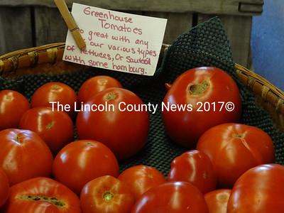 Greenhouse tomatoes are ready at County Fair Farm in Jefferson. (Shlomit Auciello photo)