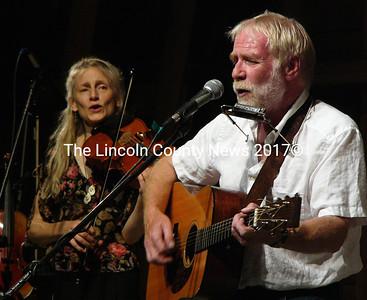 Headliner David Mallett and Susan Ramsey play at the Midcoast Music Fest July 19. (Greg Latimer photo)
