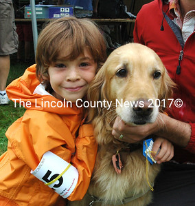 Look-Alike winners Aiden Jacobs, 6, of Newcastle, and Daisy.  (E. Busby photo)