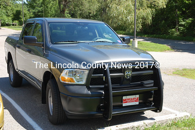 The Damariscotta Police Dept.'s new truck should be on the road in about two weeks. (J.W. Oliver photo)